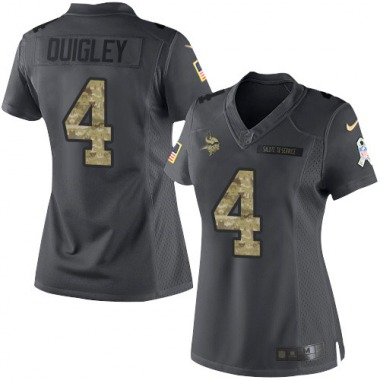 Women's Nike Minnesota Vikings Ryan Quigley 2016 Salute to Service Jersey - Black Limited