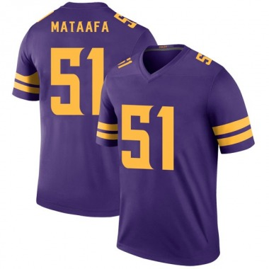 Youth Nike Minnesota Vikings Hercules Mata'afa Color Rush Jersey - Purple Legend