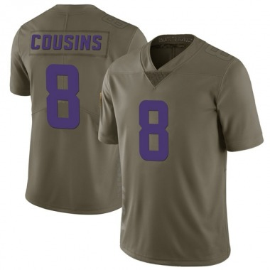 Youth Nike Minnesota Vikings Kirk Cousins 2017 Salute to Service Jersey - Green Limited