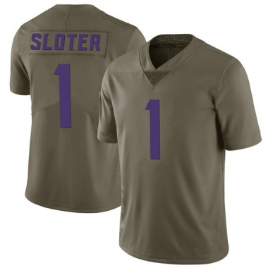 Youth Nike Minnesota Vikings Kyle Sloter 2017 Salute to Service Jersey - Green Limited