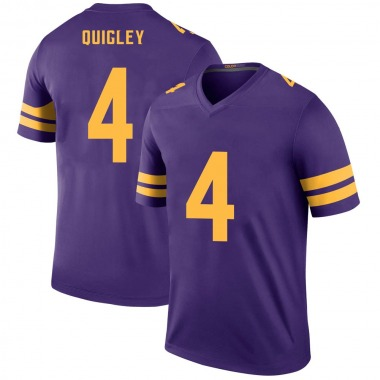 Youth Nike Minnesota Vikings Ryan Quigley Color Rush Jersey - Purple Legend